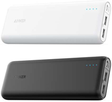 Anker PowerCore 20.100 mAh powerbank hvid/sort