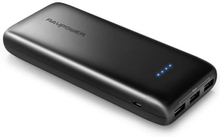 RAVPower Ace 22.000mAh Powerbank 3x USB til iPhones og iPads i Sort