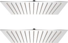 vidaXL Regnduschhuvud 2 st rostfritt stål 25x25 cm