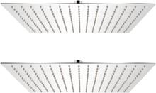 vidaXL Regnduschhuvud 2 st rostfritt stål 40x40 cm