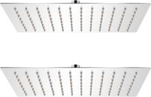 vidaXL Regnduschhuvud 2 st rostfritt stål 20x30 cm
