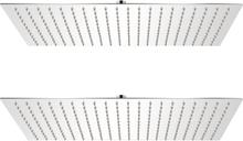 vidaXL Regnduschhuvud 2 st rostfritt stål 30x50 cm