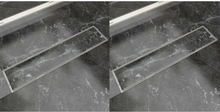 vidaXL lige bruseafløb 2 stk. 530 x 140 mm rustfrit stål