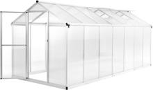 vidaXL drivhus aluminium 15,6 m³ 421 x 190 x 195 cm