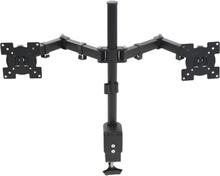 """vidaXL bordbeslag til skærme 32"""" dobbelt arme højdejusterbar"""