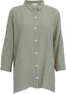 Kokoon Bianca Straight Green/White Skjorte-S