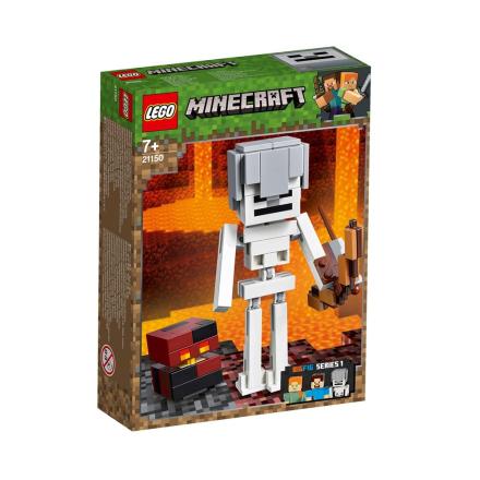 LEGO Minecraft, 21150 LEGO Minecraft MinecraftT Skeleton BigFig with Magma Cu - CDON.COM