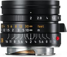 Leica M 28/2,0 Summicron ASPH. Svart (11672), Leica