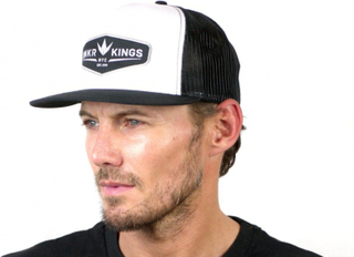 Bunker Kings Trucker Crown Patch Cap - Black/White