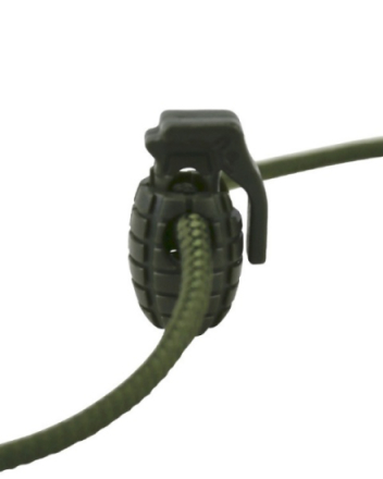 Cord Stoppers Granat - Olive - 8stk