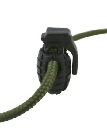 Cord Stoppers Granat - Svart - 8stk