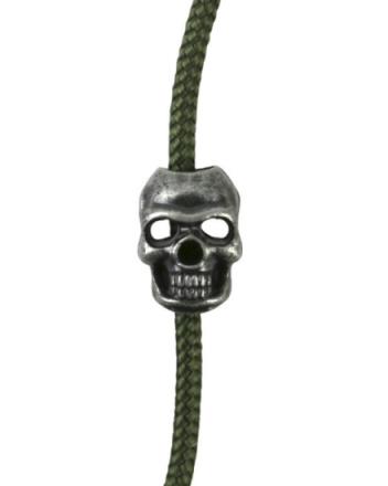 Cord Stoppers Skull - Sølv - 10stk