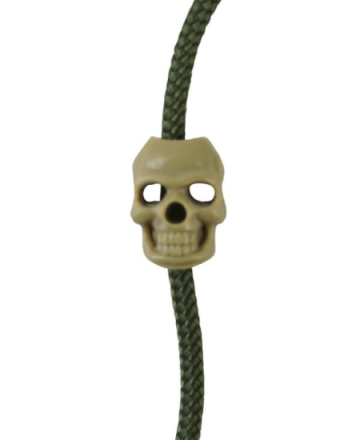 Cord Stoppers Skull - Coyote - 10stk