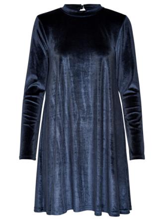 ONLY Velvet Long Sleeved Dress Women Blue