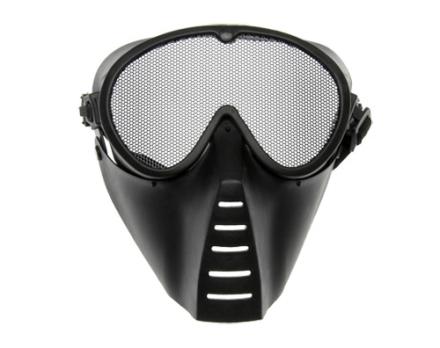Maske med Gitter-Grid - Sort