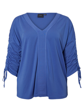 JUNAROSE Jersey 3/4 Sleeved Top Women Blue