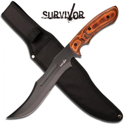 Survivor Hunting Knife - Pakkawood