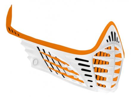 Virtue VIO Facemask - Orange/Orange/White