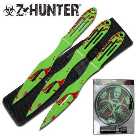 Z-Hunter Kasteknivsett med 3 Kniver og Blink