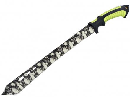 Zombie Hunter - White Skull Camo Tactical Machete - 60cm