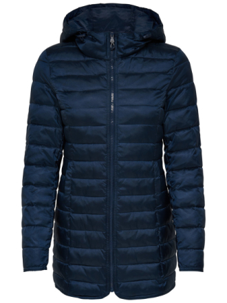 ONLY Quilted Coat Women Blue