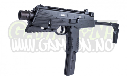 Maskinpistol GBB MP9 A3 Metal Slide - Sort