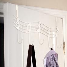 Door Back Metal Notes Wall Hooks Kitchen Bathroom Organizer Hanger Hooks With 5 Hook