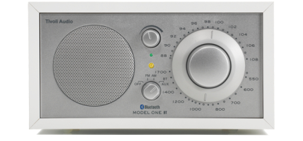 Tivoli Audio Model One BT Bluetooth White Silver