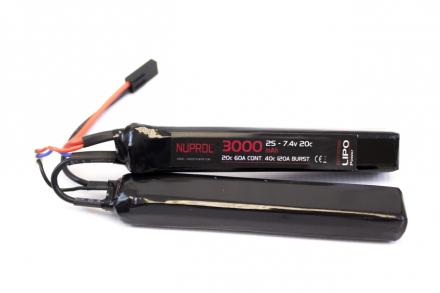 Batteri Li-Po 7.4V - 3000mAh - Cranestock