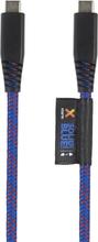 Xtorm Xtorm Solid Blue USB-C - USB-C, 1m Kevlar 8718182273649 Replace: N/AXtorm Xtorm Solid Blue USB-C - USB-C, 1m Kevlar