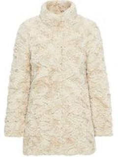 VERO MODA Synthetic Fur Jacket Kvinna Grå