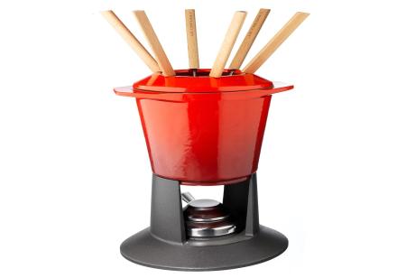 Le Creuset Fondue Set Gourmand Röd