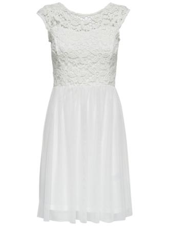ONLY Detailed Short Sleeved Dress Women White
