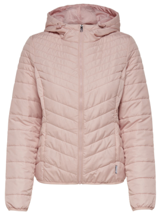 ONLY Solid Quilted Jacket Women Pastel