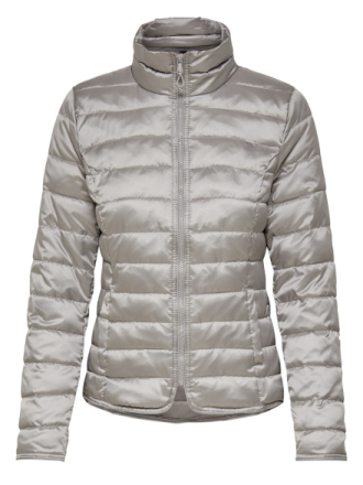 ONLY Nylon Quilted Jacket Women Grey