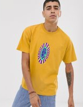 Obey Psyche t-shirt with chest logo in yellow - Dijon yellow