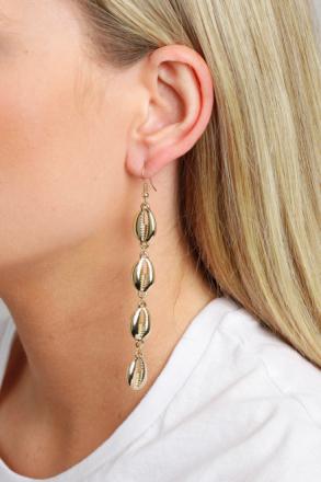 Gold Look Shell Drop Earrings