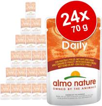 Almo Nature Daily Menu Sparpaket 24 x 70 g - Huhn & Lachs
