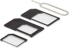 DELTACO SIM-korttisovitin micro/mini/nano-sim
