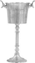 vidaXL Champagnekjøler solid aluminium 39x29x71 cm sølv