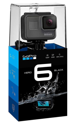GoPro HERO6 kamera - sort