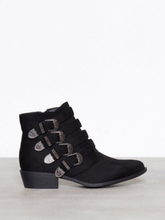 Duffy Buckle Ankle Boots Svart