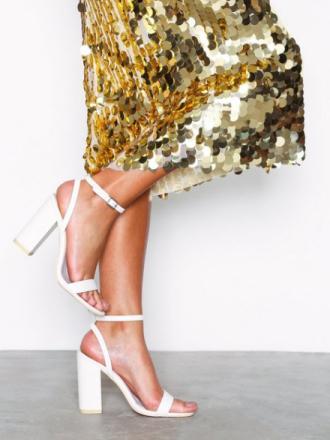 High Heel - Hvit NLY Shoes Strap Heel Block Sandal