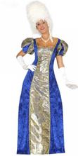 Markise kostume blå - kvinde - XL (44-46)