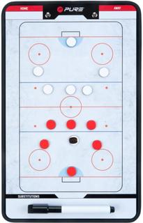 Pure2improve Dubbelsidig Taktikplatta För Ishockey 35x22 Cm P2i1 Vit