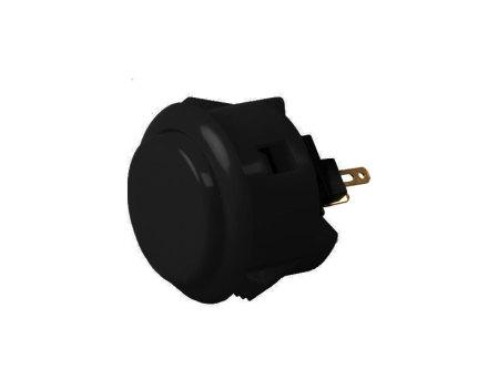 OBSF-30 Snap-In Arcade Button - Black