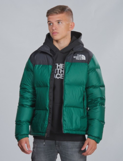 The North Face, RETRO NUPTSE DOWN JACKET, Grønn, Jakker/Fleece för Gutt, S