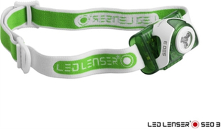 Led Lenser Pannlampa SE03 Grön