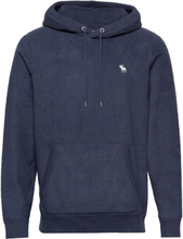 Sherpa Icon Popover Hoodie Blå Abercrombie & Fitch