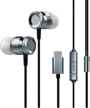 Type-C Metal Stereo Earphone with Microphone